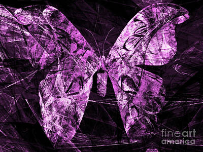 Photograph - Butterfly In Abstract Dsc2977ma by Wingsdomain Art and Photography