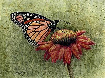 Painting - Butterfly In My Garden by Janet King