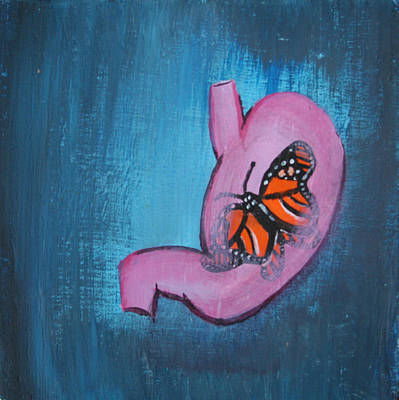 Painting - Butterfly In My Stomach by Khryztof Holtwick