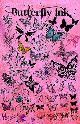 Digital Art - Butterfly Ink by Mindy Bench