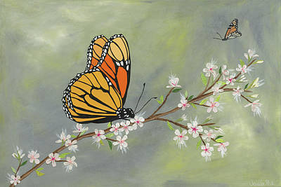 Butterfly Art Print by Jennifer Peck