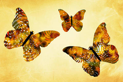 Color Image Mixed Media - Butterfly Kisses by Christina Rollo