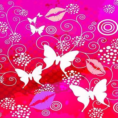 Digital Art - Butterfly Kisses by Florene Welebny