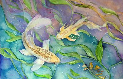 Butterfly Koi Art Print