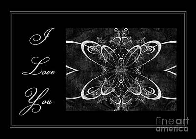 Digital Art - Butterfly Lace Love by JH Designs