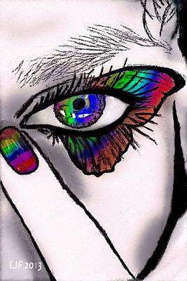 Provocative Drawing - Butterfly Lashes by Larry Ferreira