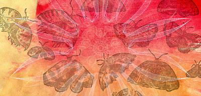 Blue Swallowtail Mixed Media - Butterfly Letterpress Watercolor by Kyle Hanson