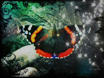 Digital Art - Butterfly Magick by Absinthe Art By Michelle LeAnn Scott