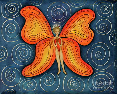 Butterfly Mantra Art Print