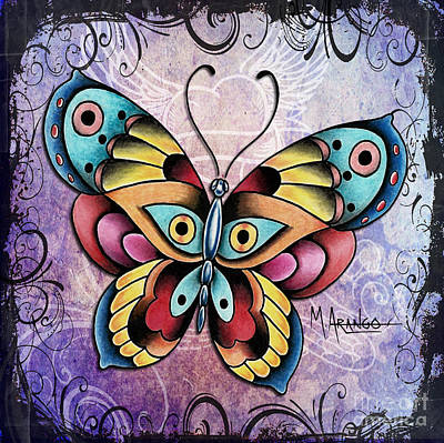 Mixed Media - Butterfly by Maria Arango