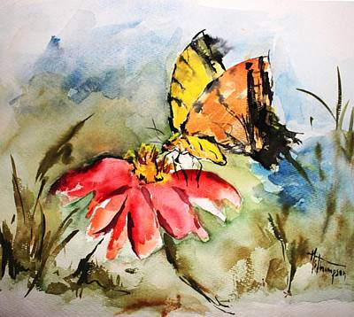 Painting - Butterfly   by Mary Spyridon Thompson