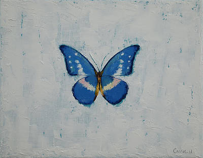 Poisson Painting - Butterfly by Michael Creese