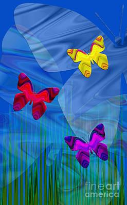 Digital Art - Butterfly Minuet by Kristi Kruse