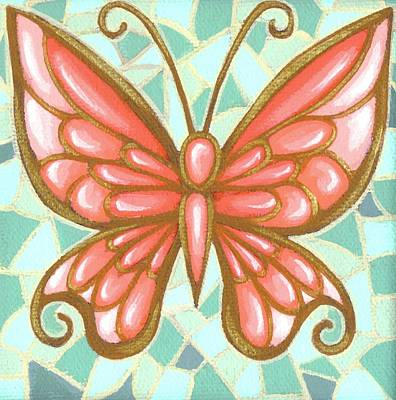 Butterfly Mosaic Original by Elaina  Wagner