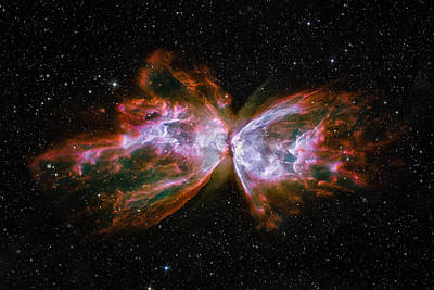 Fiction Photograph - Butterfly Nebula Ngc6302 by Adam Romanowicz