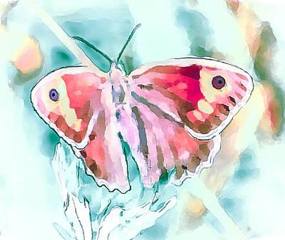 Digital Art - Butterfly On Flower 1 by Yury Malkov