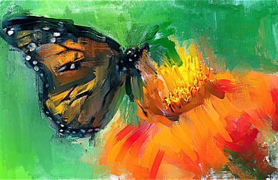 Digital Art - Butterfly On Flower by Yury Malkov