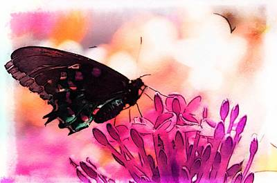 Fluttering Painting - Breathing Into The Sunlight by Marianna Mills