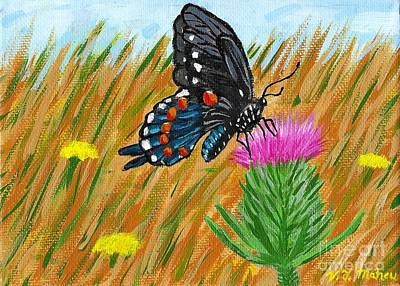 Painting - Butterfly On Thistle by Vicki Maheu