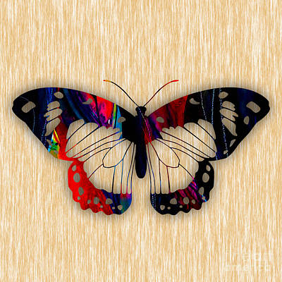 Mixed Media - Butterfly Painting by Marvin Blaine