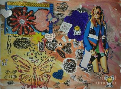 Mixed Media - Butterfly by Patries Van Dokkum