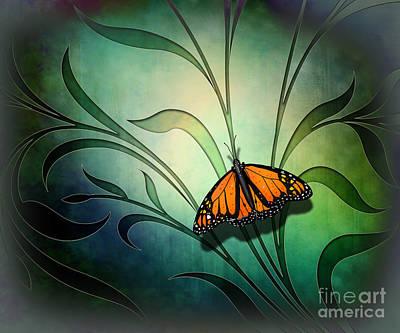 Moth-butterflies Digital Art - Butterfly Pause V1 by Bedros Awak