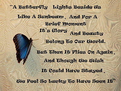 Butterfly Poem Art Print by Aimee L Maher Photography and Art Visit ALMGallerydotcom