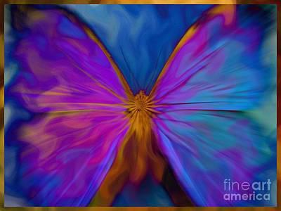 Fractal Digital Art - Butterfly / Psychedelic Dream by Elizabeth McTaggart