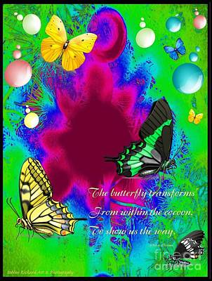 Butterfly Shows The Way Art Print by Bobbee Rickard