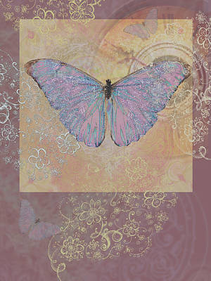 Butterfly Somewhere Art Print