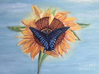 Butterfly Sunday In The Summer Art Print