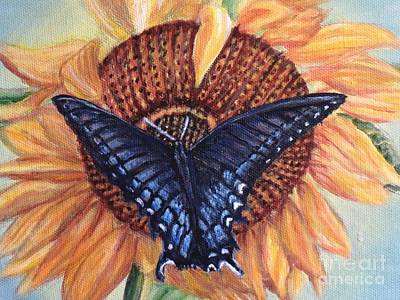 Painting - Butterfly Sunday Up-close by Kimberlee Baxter