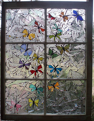 Glass Art - Butterfly Swirl by Liz Lowder