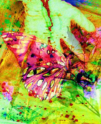 Butterfly That Was A Muscian Art Print