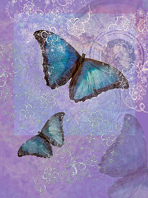 Digital Butterfly Photograph - Butterfly Time by Alixandra Mullins