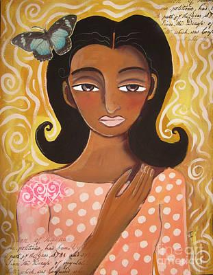 Butterfly Totem Art Print by Elaine Jackson