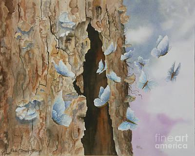 Wall Art - Painting - Butterfly Tree by Paula Marsh