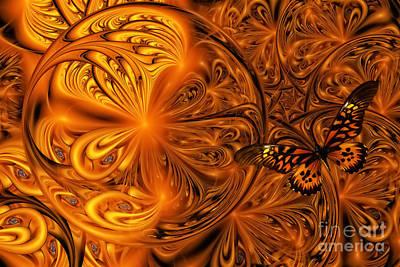 Digital Art - Butterfly Watching by Olga Hamilton