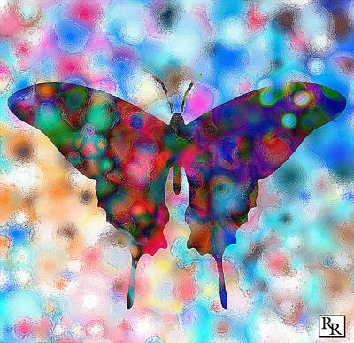 Butterfly Watercolor Print By Rr Art Print