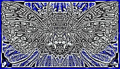 Art Nouveau Style Mixed Media - Butterfly Wings Art Nouveau  by Kimberlee Baxter