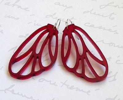 Laser Cut Gifts Jewelry - Butterfly Wings Earrings by Rony Bank