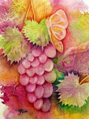 Painting - Butterfly With Grapes by Carla Parris