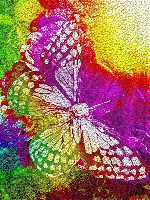 Butterfly World 2 Art Print by Nico Bielow