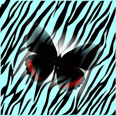 Digital Art - Butterfly Zebra by Florene Welebny