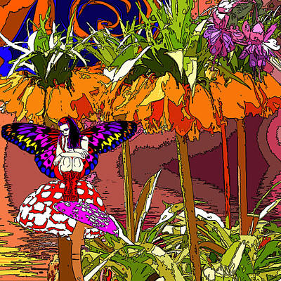 Trippy Painting - Butterfly's Forest by Jezebel X