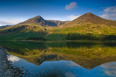 Buttermere Reflection Lake District Art Print by David Ross