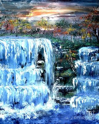 Buttermilk Falls Art Print by Denise Tomasura