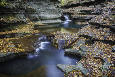 Buttermilk Falls In Autumn II Art Print by Michele Steffey