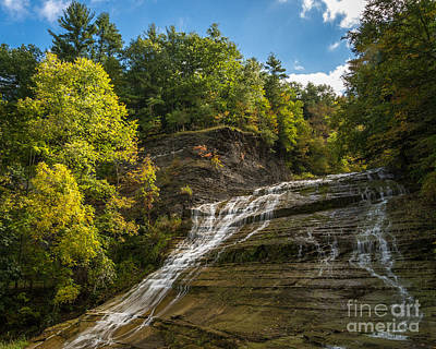 Buttermilk Falls Art Print by John Naegely