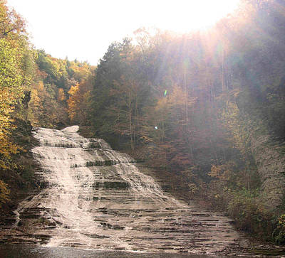 Buttermilk Falls State Park Art Print by Silvana Marmango